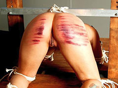 Very painful caning session